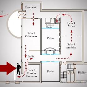 Plano Sala Mundo Romano